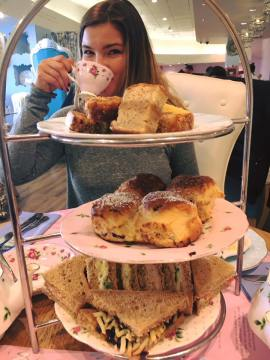 afternoon tea at the tea terrace house of fraser oxford street london